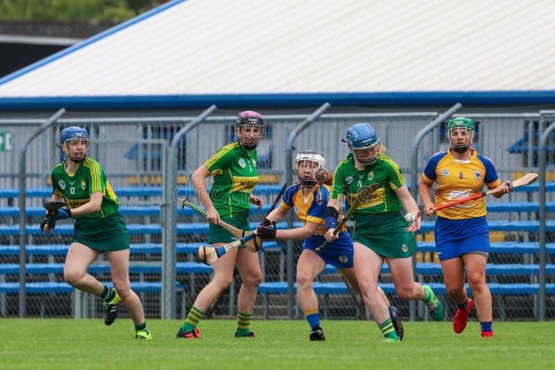 All-Irland premiärminister Junior Championship Semi-Final mellan länet Clare och länet Kerry royaltyfria bilder