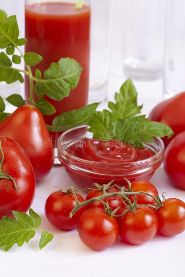 All Kinds Of Tomatoes Stock Images