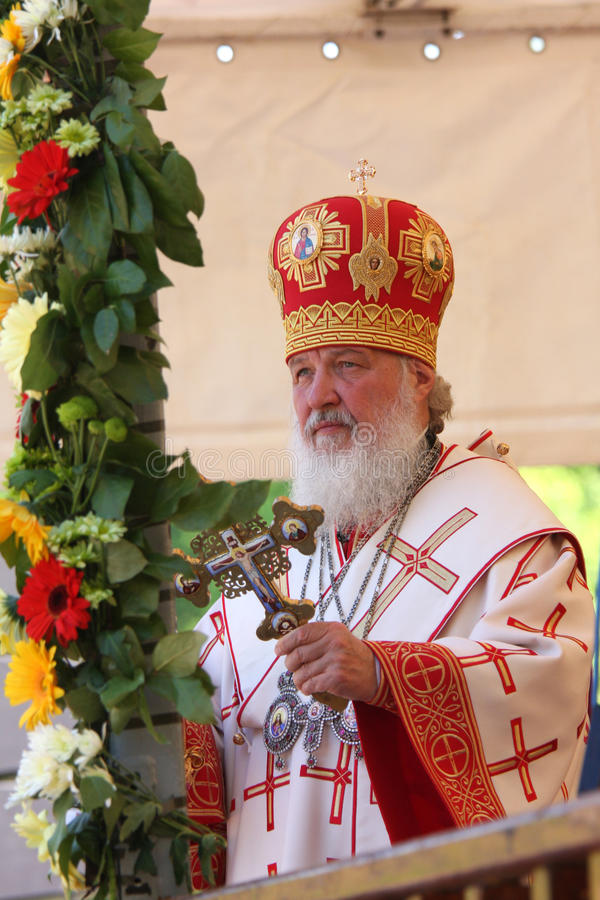 all kirillmoscow patriark russia royaltyfri fotografi