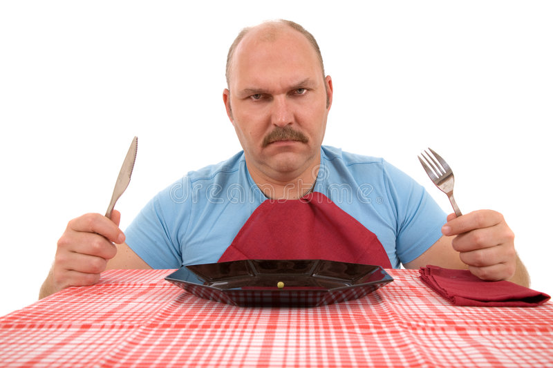 Is this all my dinner? stock photography
