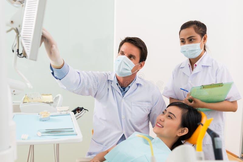 All'ortodontista fotografia stock libera da diritti