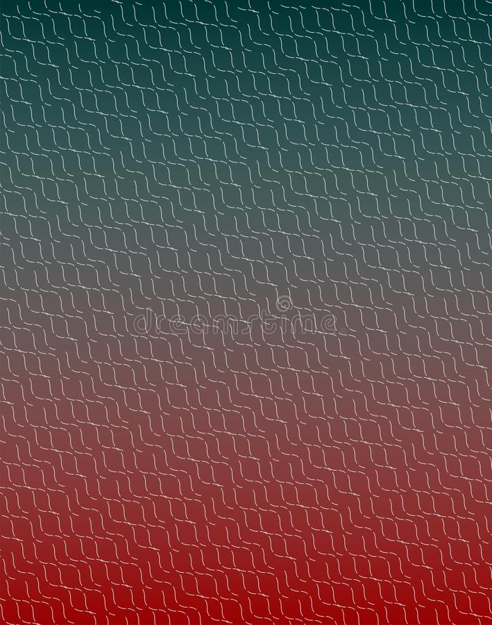 All over light grey broken curved texture on green-red merging background. Broken curved texture on merging red-green base .It can be use as a background in stock illustration