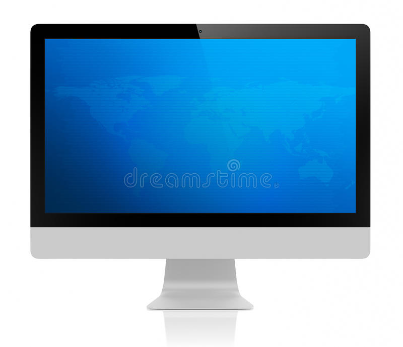 Download All-In-On PC- monitor stock illustration. Image of continent - 28665076