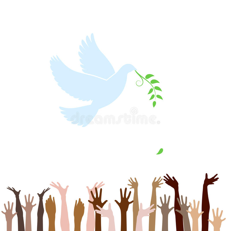 All people look for peace stock illustration