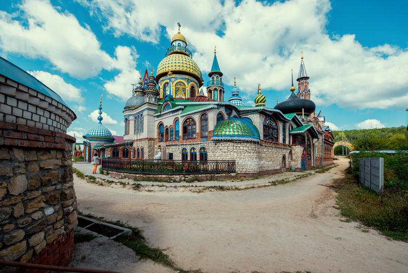 All religions temple in Kazan. stock photography