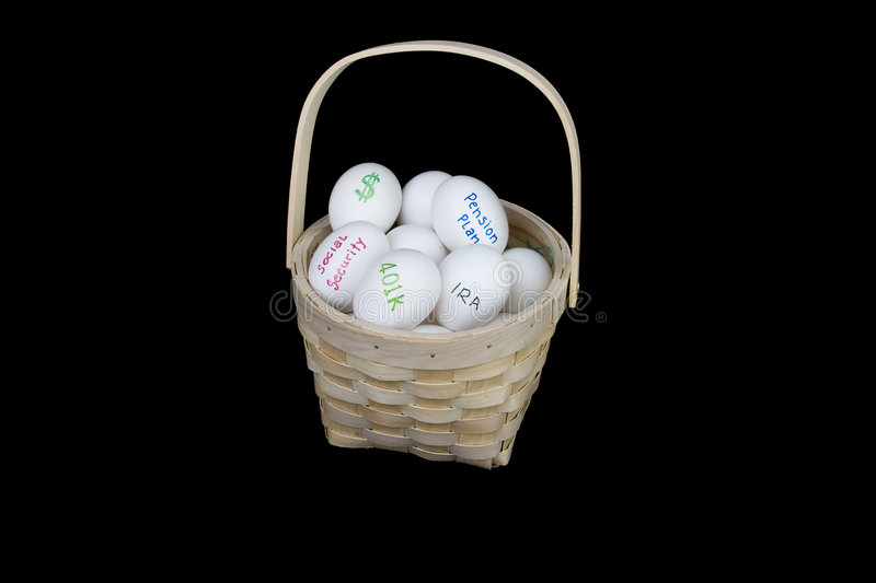 Download All Retirement Eggs In One Basket Stock Image - Image: 2059249
