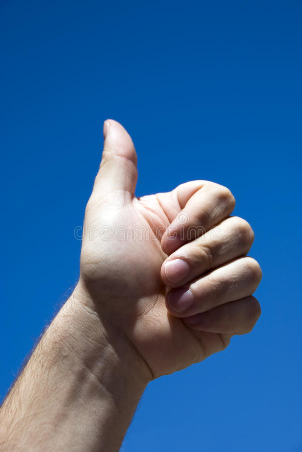 All right - Ok hand sign royalty free stock photo