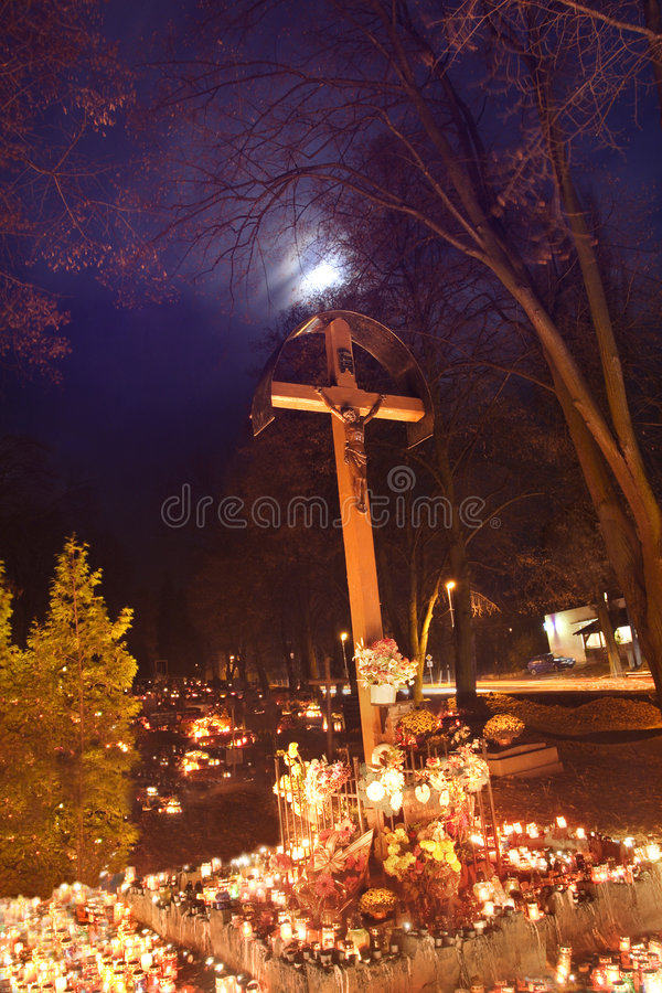 All Saints. Remembrance day, graveyard royalty free stock photos