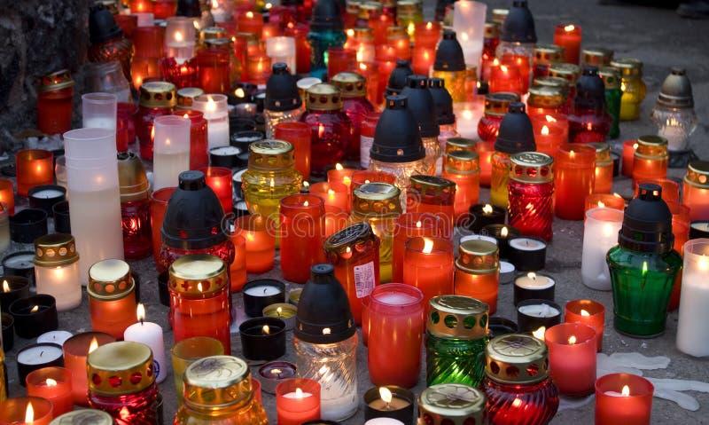 All saints. Remembrance day, graveyard stock photo