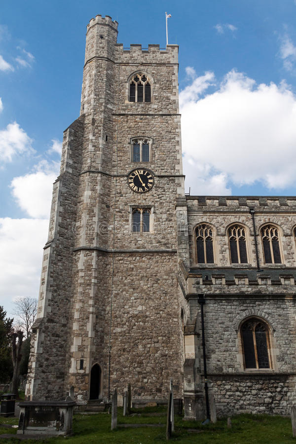 All Saints Abbey in Fulham. London, United Kingdom royalty free stock images