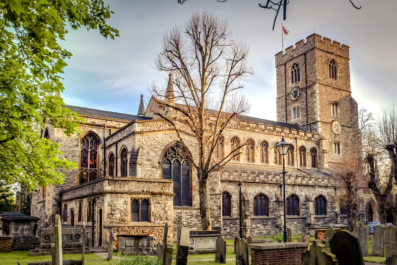 All Saints Church, Fulham royalty free stock photography