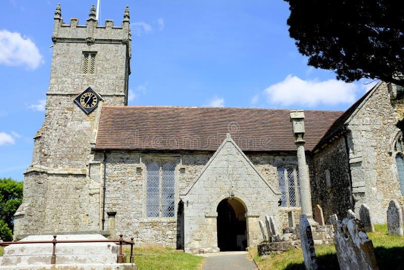 All Saints church, Godshill, Isle of Wight, UK. stock image