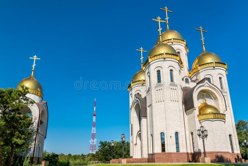 All Saints Church on Mamayev Kurgan in Volgograd, Russia. N Federation stock photography