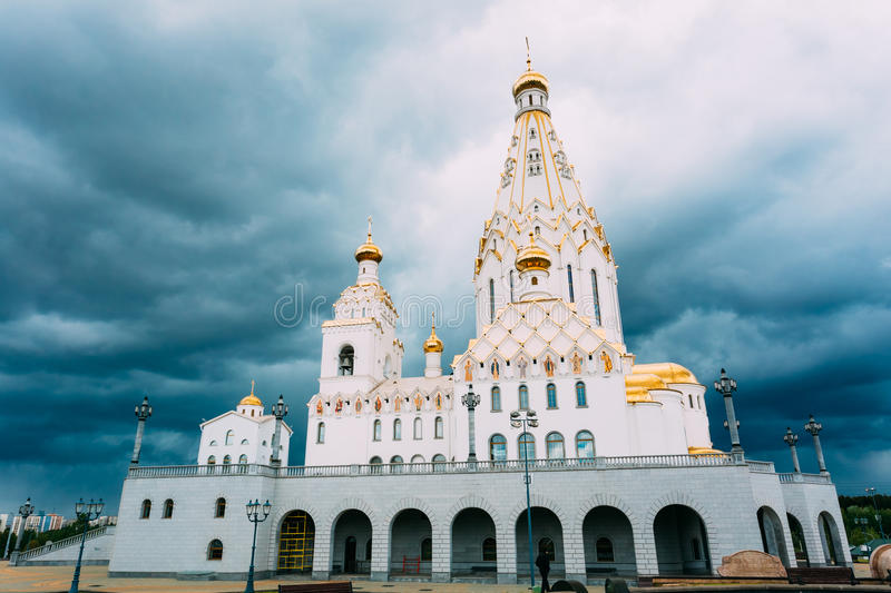 All Saints Church In Minsk, Republic of Belarus. All Saints Church In Minsk, Belarus. Minsk memorial church of All Saints and in memory of the victims, which royalty free stock images