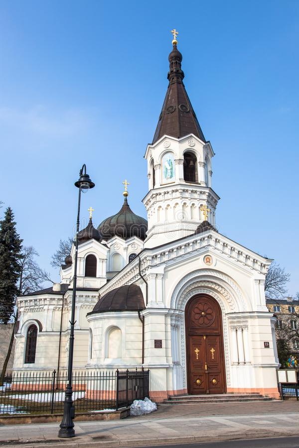 Download White Orthodox Church In Piotrkow Trybunalski Stock Photo - Image: 30126712