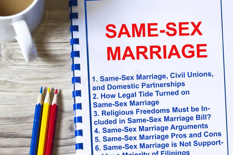 Same sex unions pros and cons
