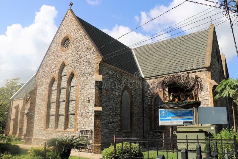 All Sankt anglikansk kyrka i port - av - Spanien, Trinidad och Tobago arkivbilder