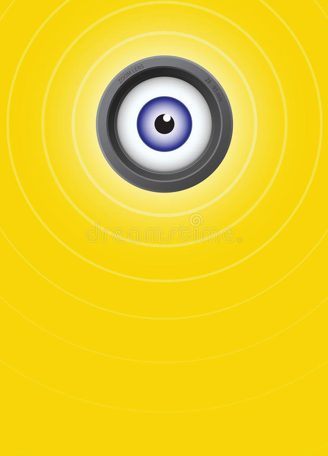 Download All seeing eye stock vector. Image of view, yellow, photographic - 24514872