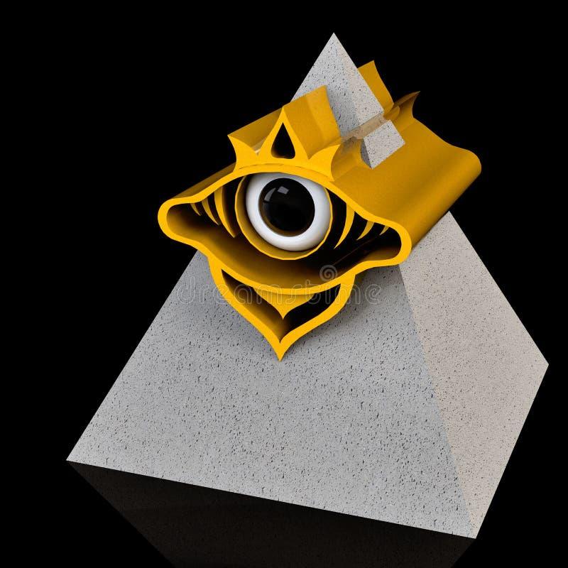 All-seeing eye stock image