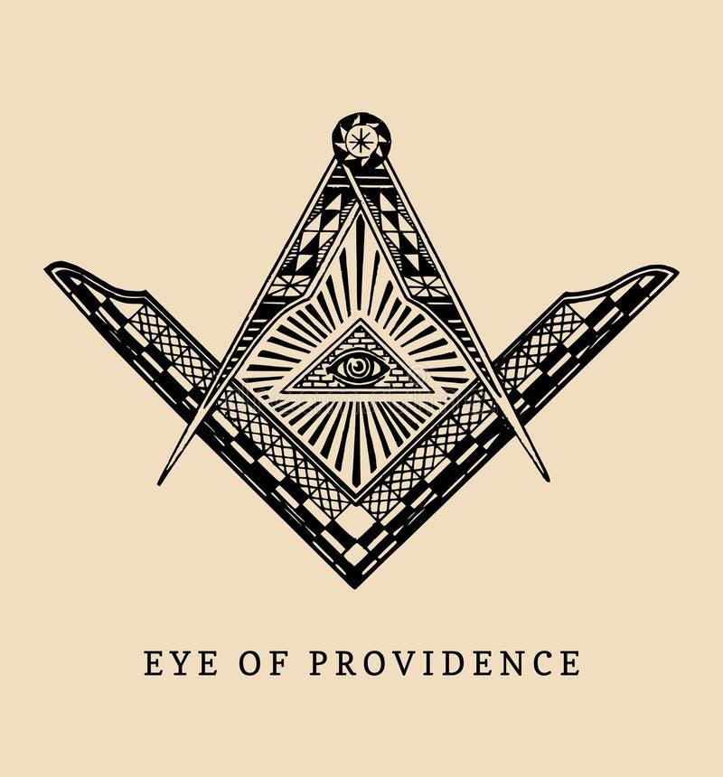 Download All Seeing Eye Of Providence Masonic Square And Compass Symbols Freemasonry Pyramid