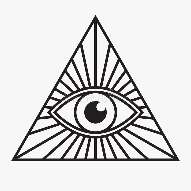 Free All Seeing Eye Symbol Royalty Free Stock Image - 56267346