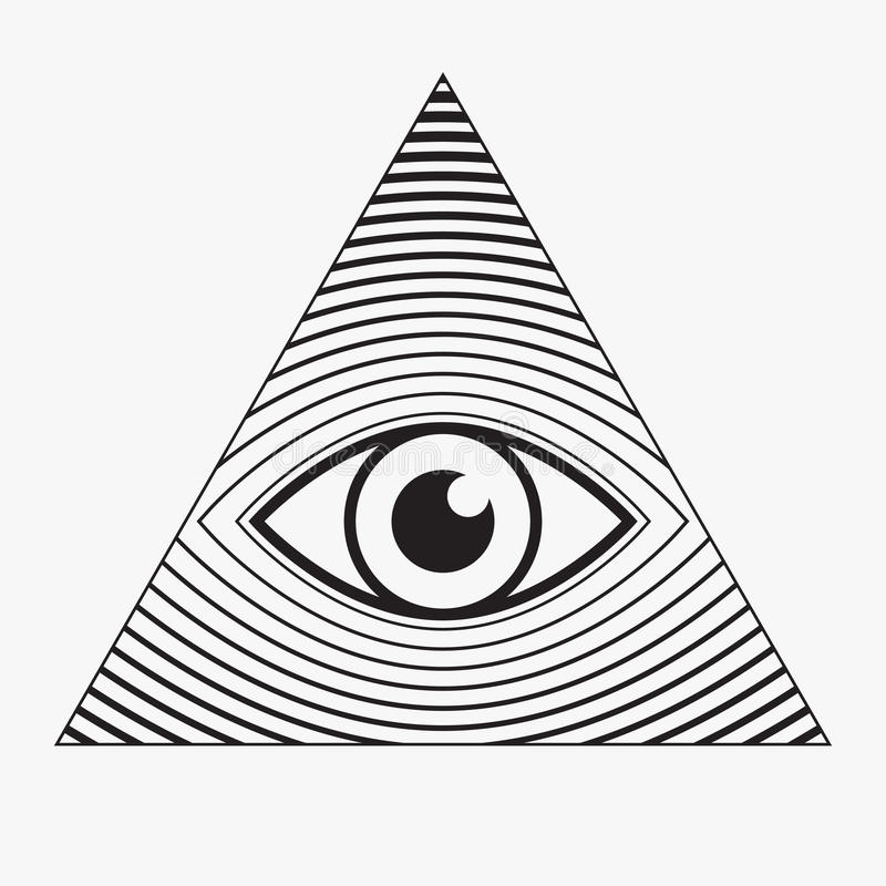 Free All Seeing Eye Symbol Royalty Free Stock Images - 56267349