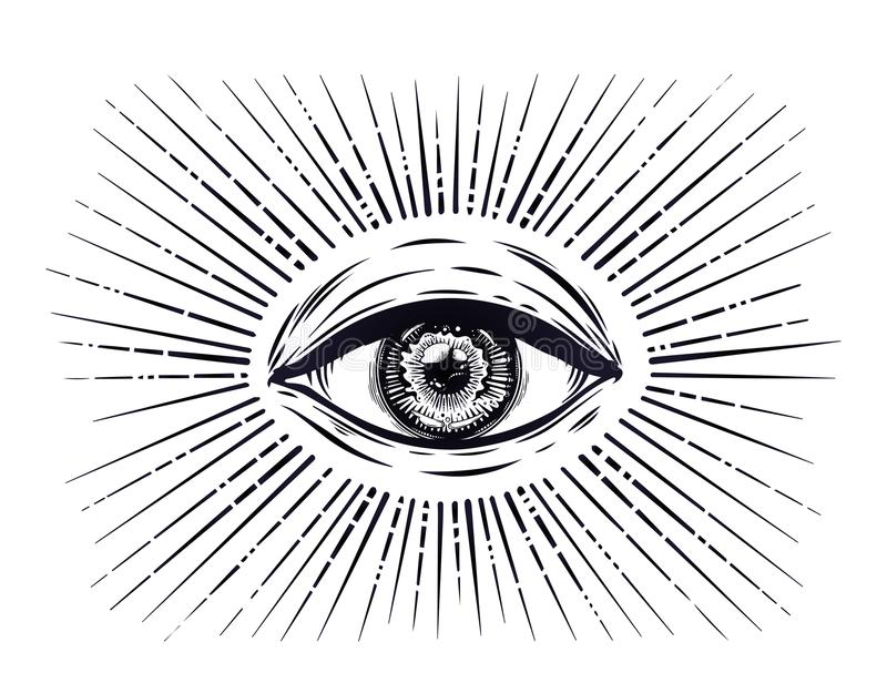 Download all seeing eye symbol eye of providence stock vector illustration of drawing