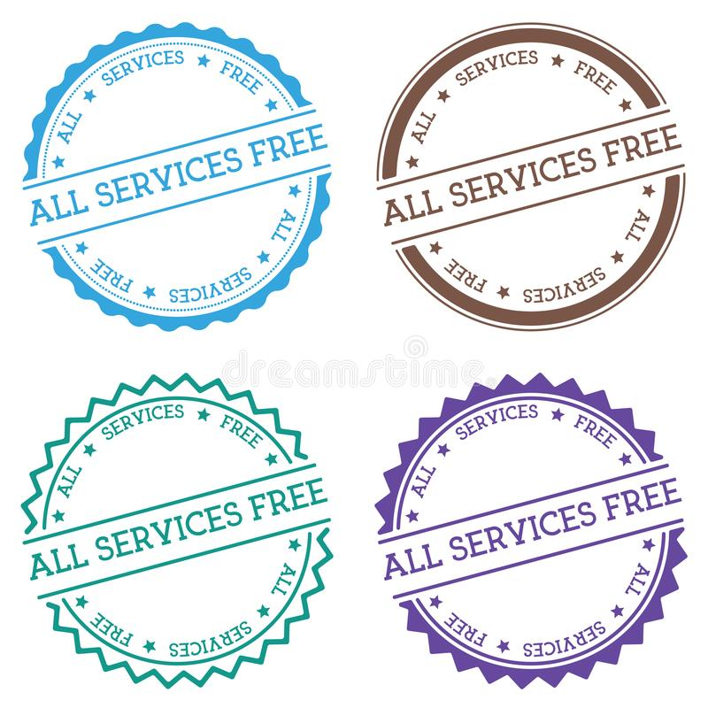 All services free badge isolated on white. royalty free illustration