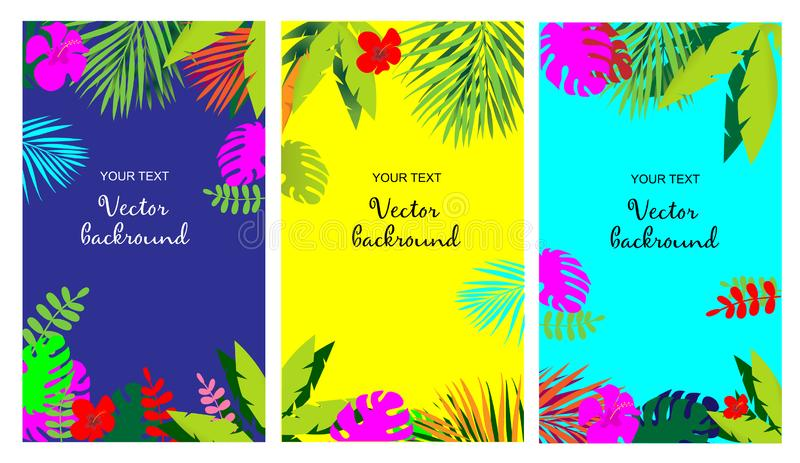 All sommarsemester Vektorn ställde in av socialt massmedia som berättelser planlägger mallar vektor illustrationer