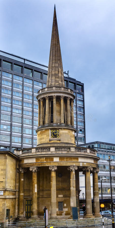 All Souls Langham Place Anglican Church London England stock images