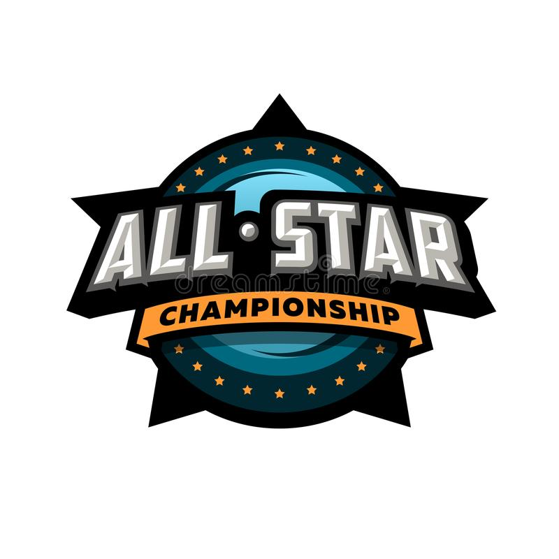 All star sports, template logo design. royalty free illustration