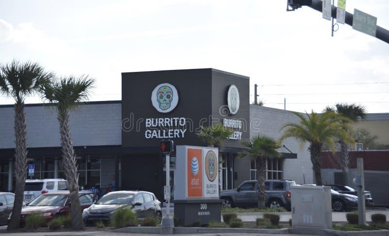 Burrito Gallery, Jacksonville Beach, Florida stock photos