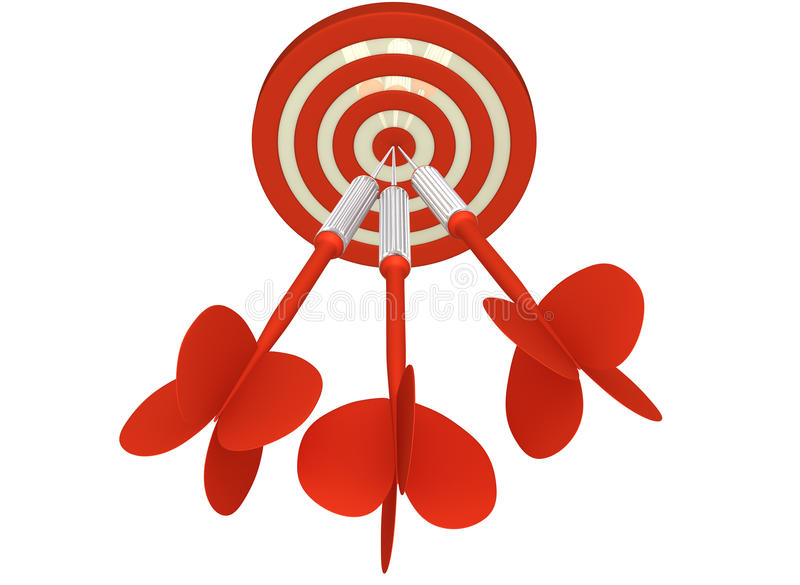 Download All on Target stock illustration. Image of arrow, performance - 25862402