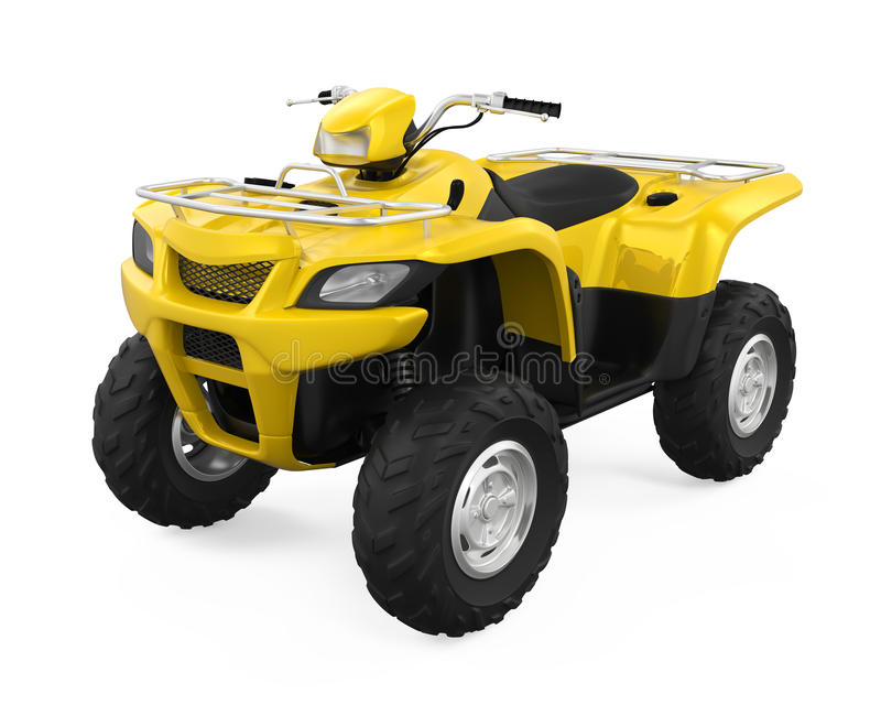 All-Terrain Vehicle Isolated stock illustration