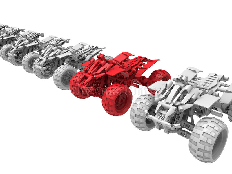All terrain vehicle target in the line concept royalty free illustration