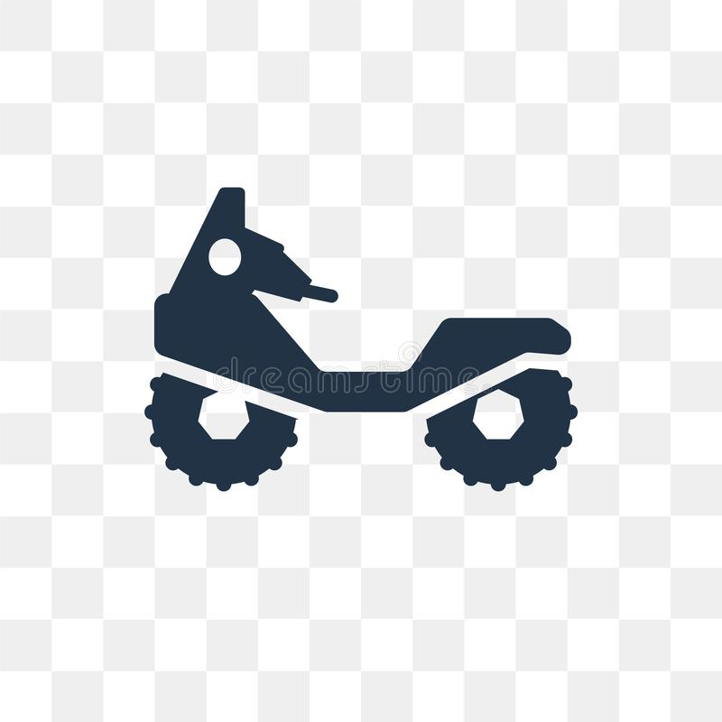 All terrain vehicle vector icon isolated on transparent background, All terrain vehicle transparency concept can be used web and stock illustration