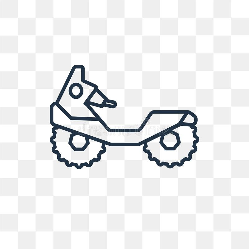 All terrain vehicle vector icon isolated on transparent background, linear All terrain vehicle transparency concept can be used w royalty free illustration