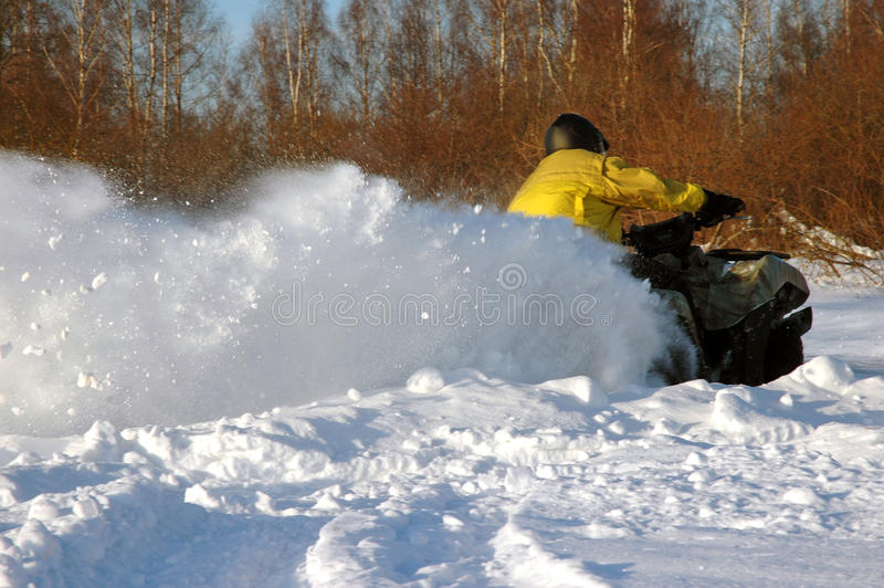Download All Terrain Vehicle At Winter Stock Image - Image: 12941069