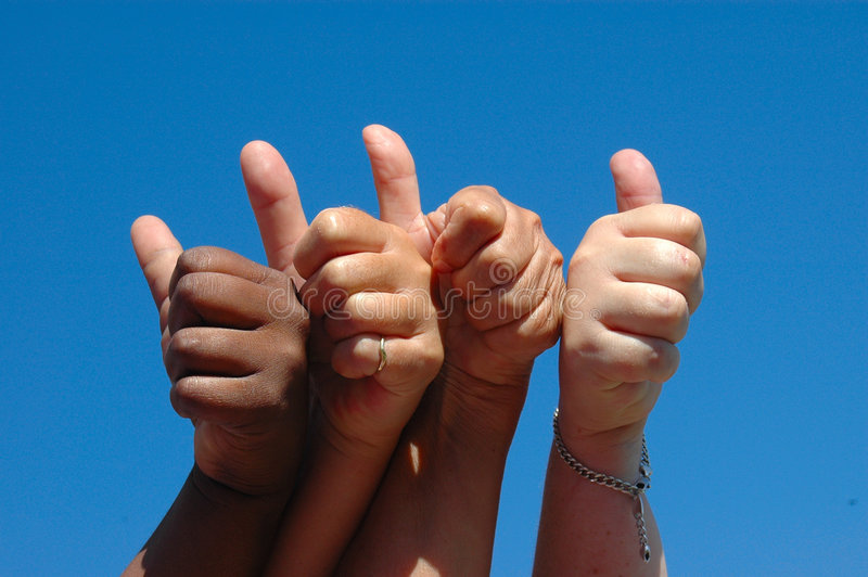 Download All thumbs up stock image. Image of coloured, freedom - 1898557