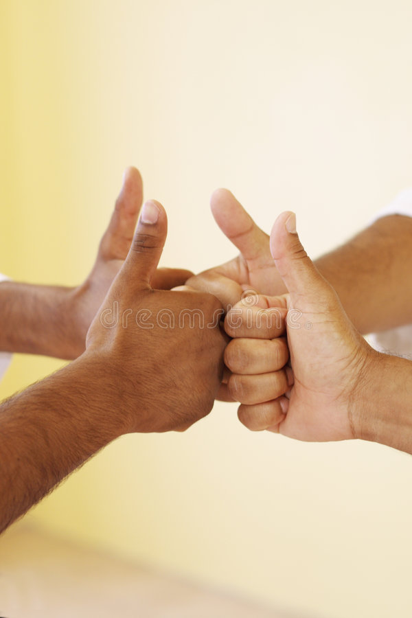 All thumbs up royalty free stock photos