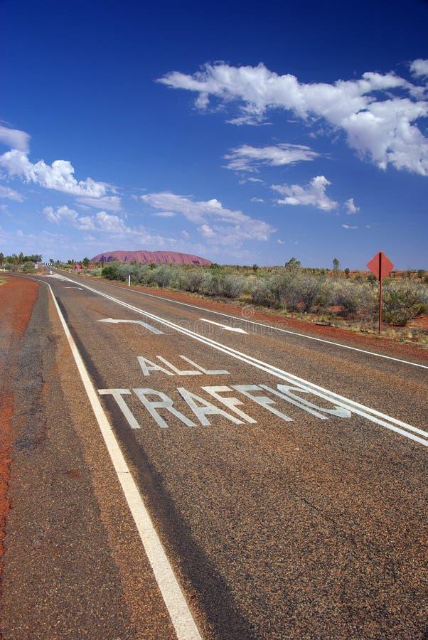 Download All Traffic To Uluru Road Markings Stock Image - Image of mark, large: 6695055