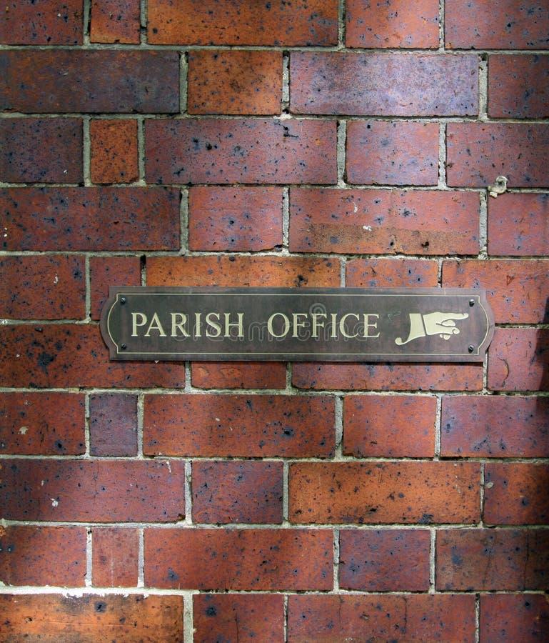 All'ufficio della parrocchia immagine stock libera da diritti