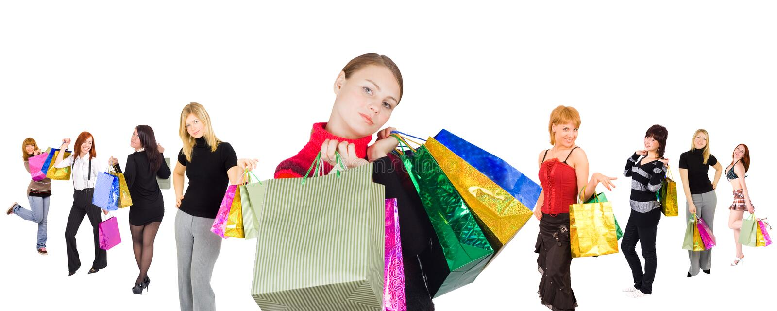 All those who go shopping royalty free stock image