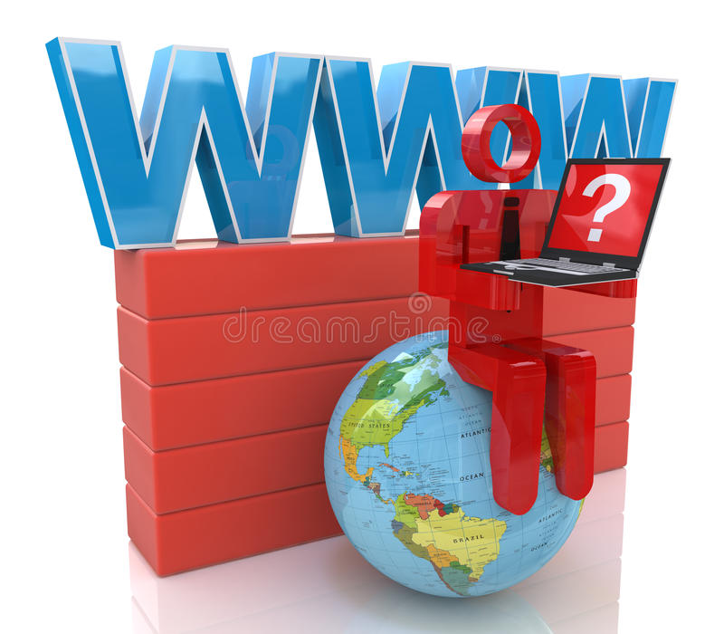 Download All World In Your Laptop Stock Photo - Image: 37907070