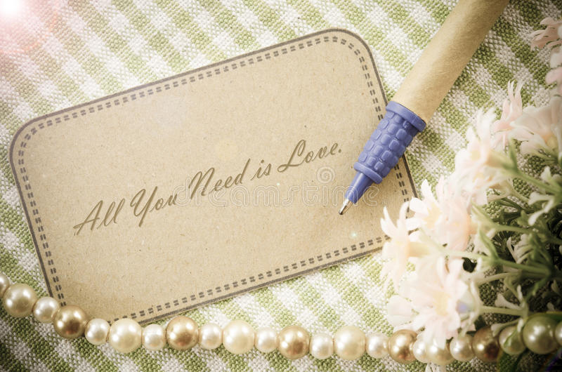 All you need is love message royalty free stock images