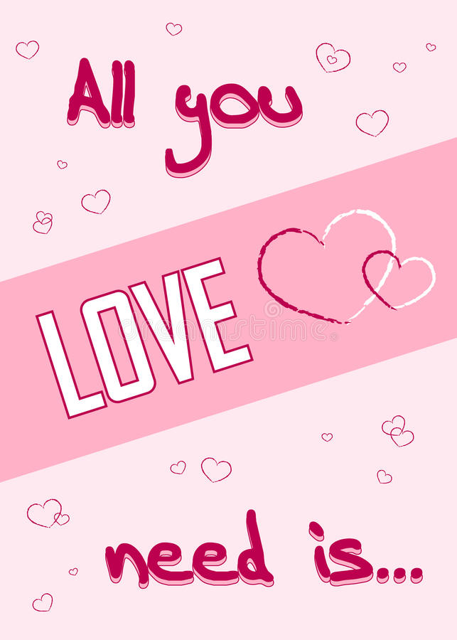 All You Need Is Love. Romance Quote Text With Heart Typography Background.  Valentine Day Holiday Concept. T Shirt Design For Apparel, Card,  Invitation, ...
