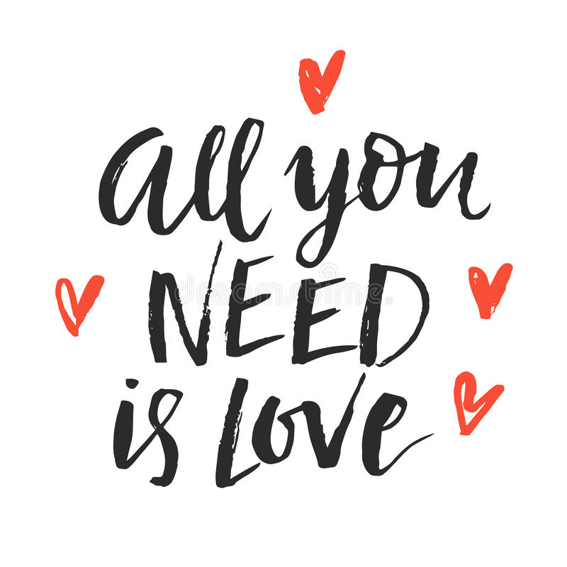 All You Need Is Love stock illustration