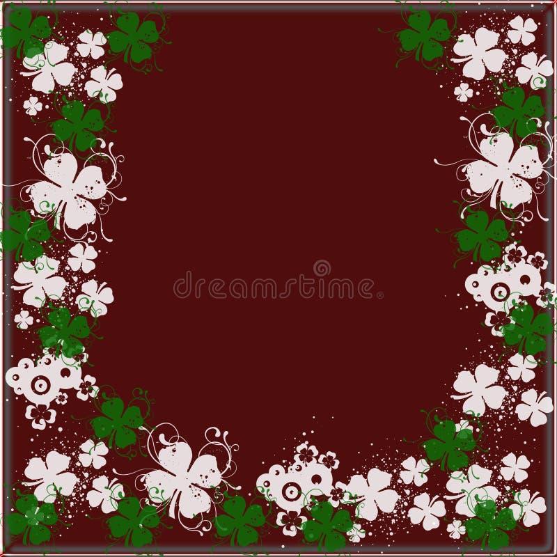 alla bakgrundsbrownväxter av släkten Trifolium över vektor illustrationer