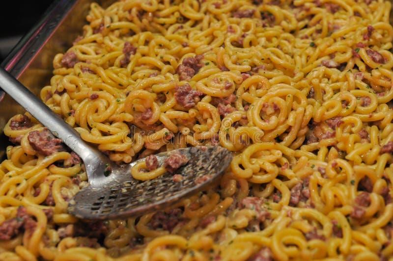 alla bolognese意大利面食 库存图片