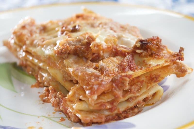 Alla Bolonais de lasagne images stock